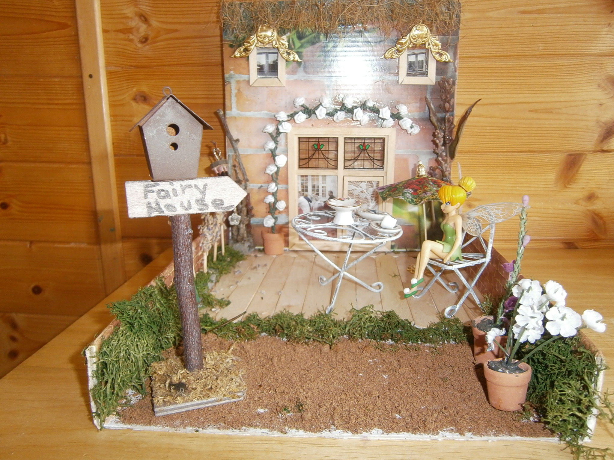 recycled indoor fairy garden fairy gardens and dolls. Black Bedroom Furniture Sets. Home Design Ideas